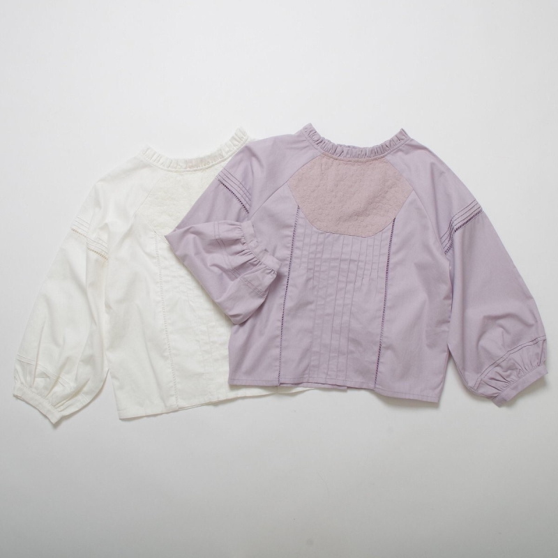 pin tuck cotton blouse ◎