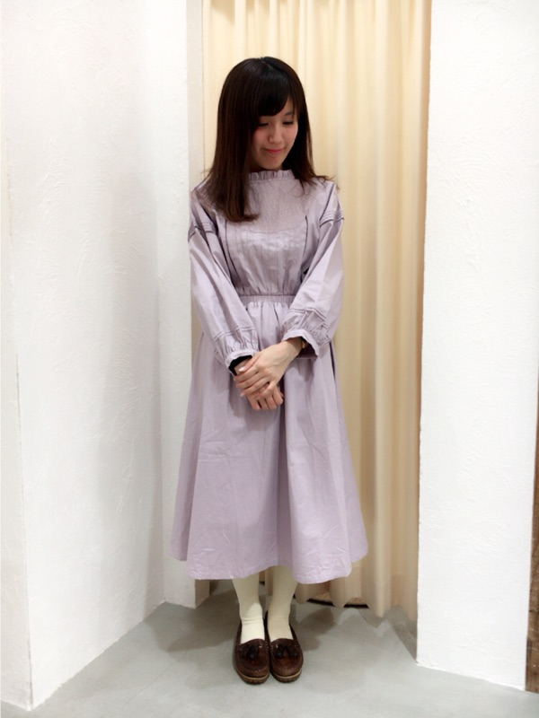 pin tuck cotton onepiece ♪