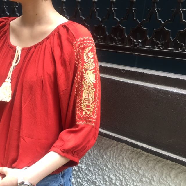 embroidery blouse ♪