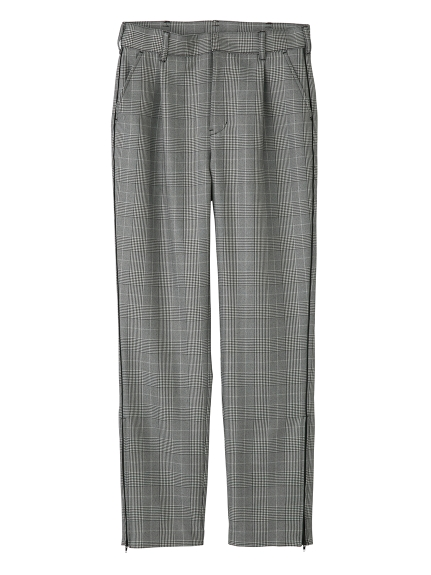 PLAID TAPERED PANTS