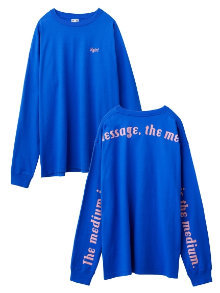 BACK SLEEVE PRINT L/S BIG TEE