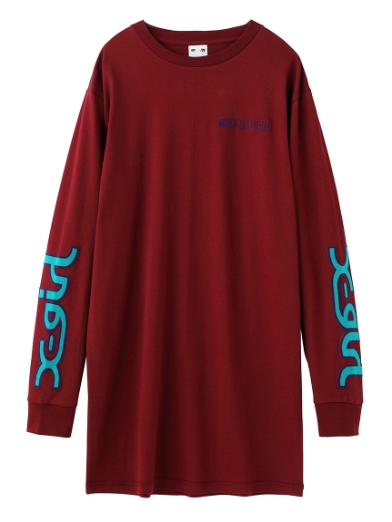 FLOCK LOGO L/S TEE DRESS