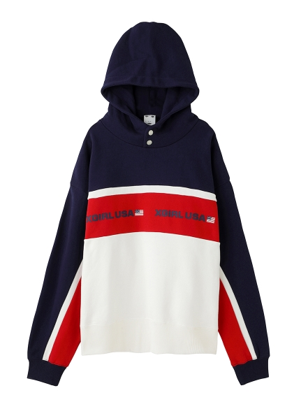 TRI-COLOR SWEAT HOODIE