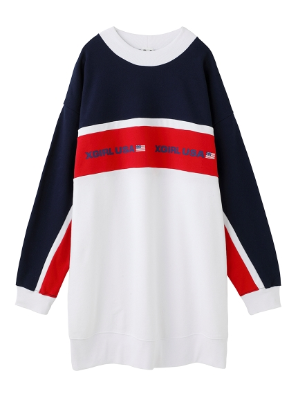 TRI-COLOR SWEAT DRESS