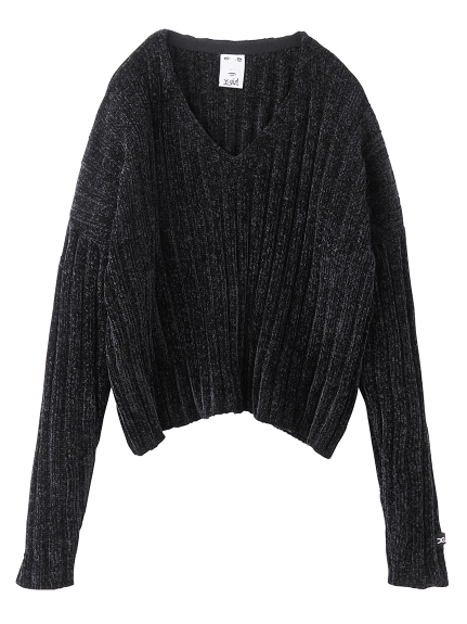 V NECK CHENILLE SWEATER