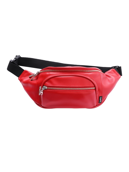 FAKE LEATHER HIP BAG