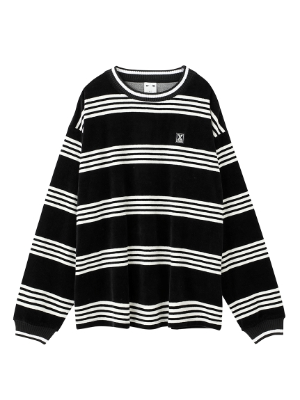 STRIPE VELOR TOPS