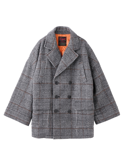 PLAID BIG PEA COAT