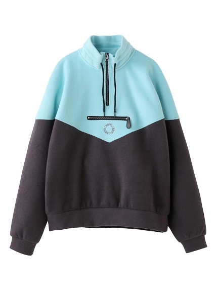 HALF ZIP SWEAT TOP