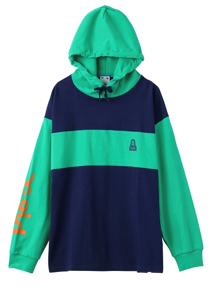 BI-COLOR L/S HOODED TEE