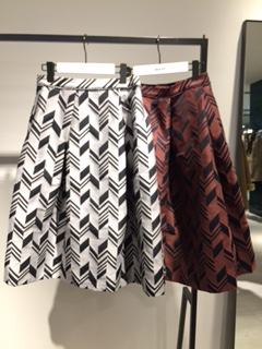 ☆arrow jacquard bolume skirt☆